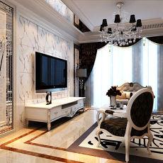 精美面积70平欧式二居装饰图