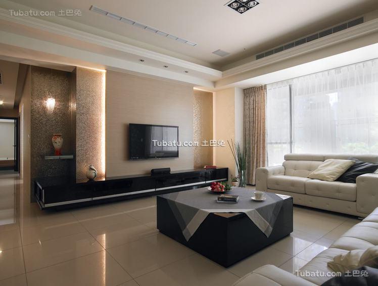 现代三居室家居客厅装饰效果图