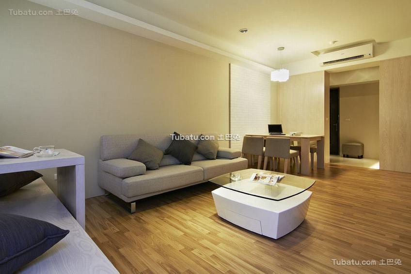 现代自然居室客厅装修