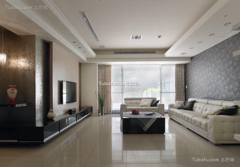 现代三居室家居装饰效果图