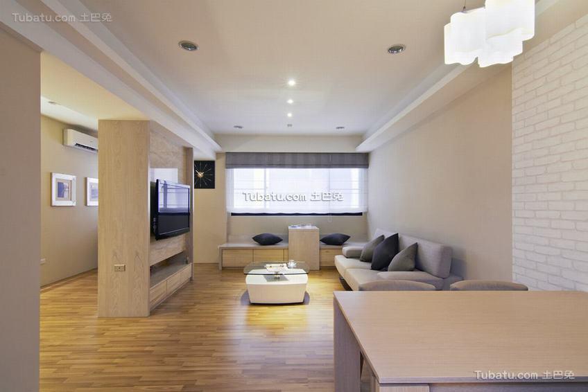 现代自然休闲三居室装修案例