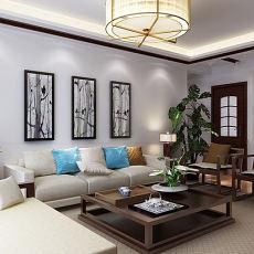 热门三居中式装修实景图片