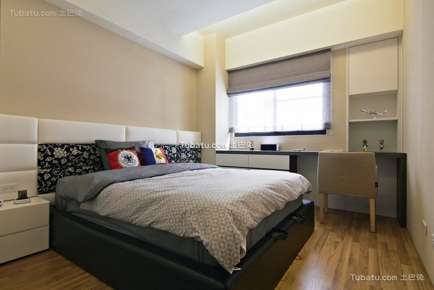 现代自然休闲卧室装修