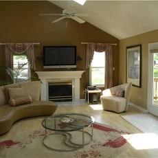 装修美式客厅