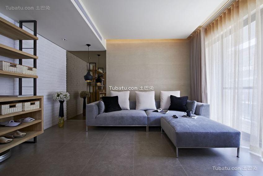 现代质感家居客厅整体装修