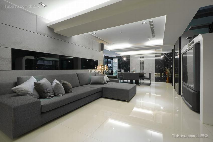 140平现代四居室装修效果图片