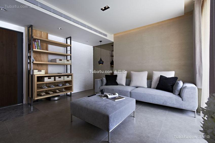 现代质感家居两居室装修案例