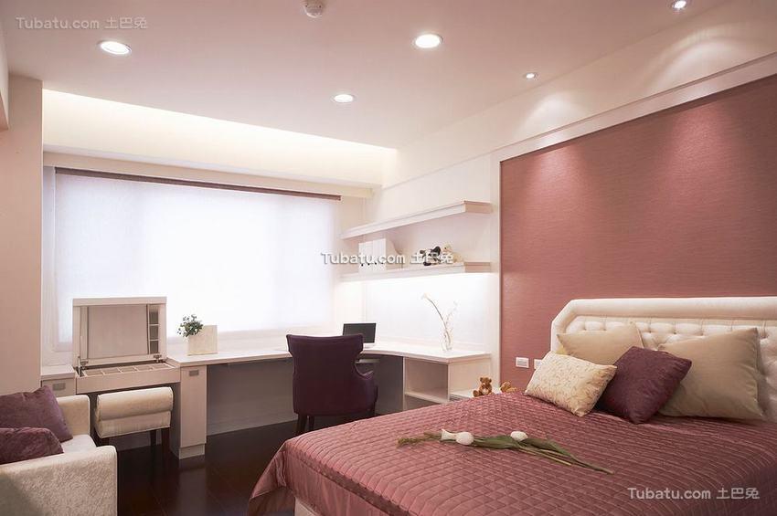 优雅整洁现代卧室局部装修