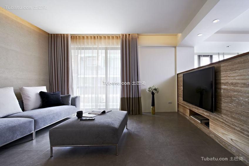 现代简约质感家居客厅装修