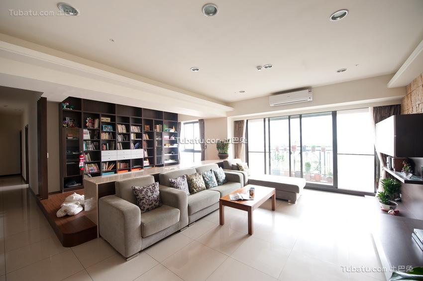 现代时尚100平米三居室欣赏