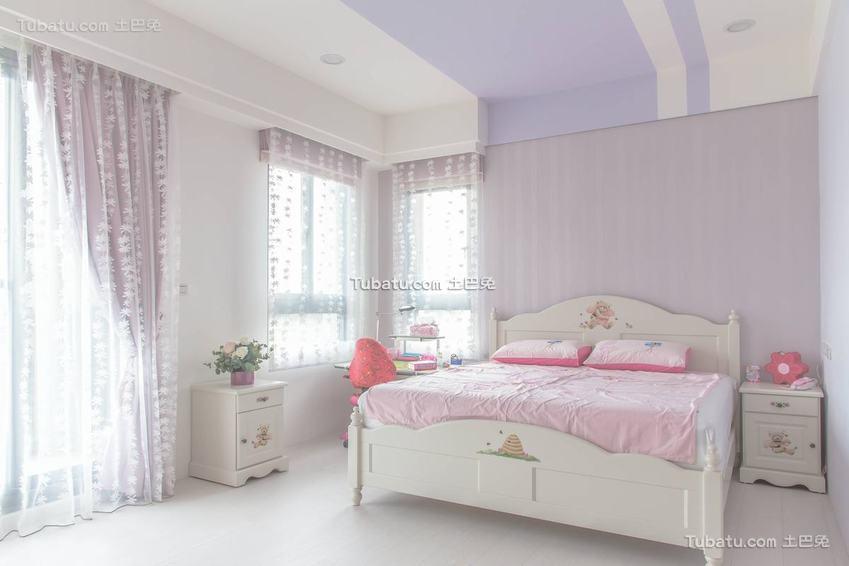 简约温馨卧室房间布置效果图片