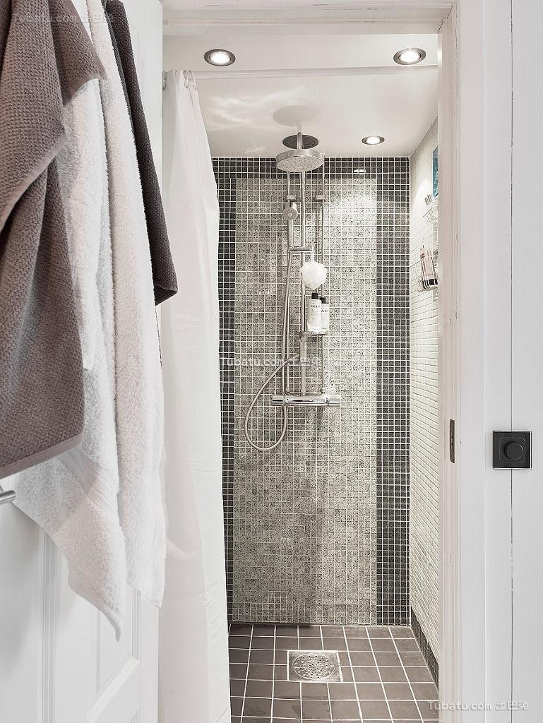 简洁北欧马赛克浴室装修