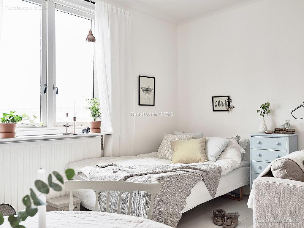 简洁明快北欧风格卧室装修