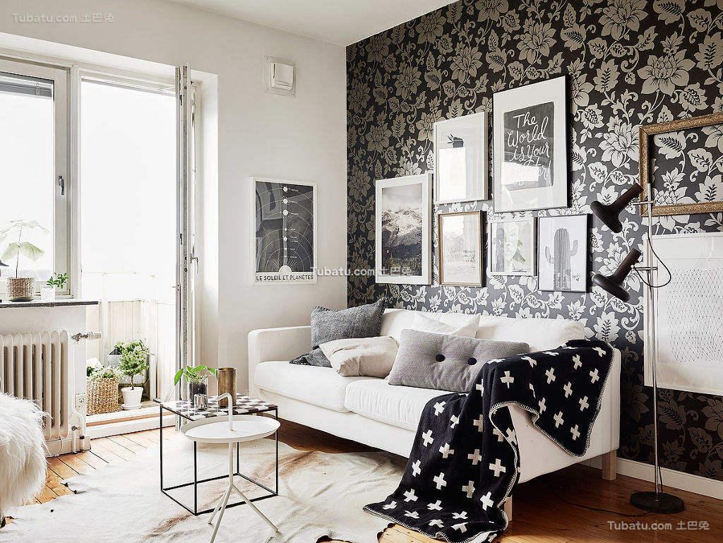 北欧小户型居室黑白灰装修效果图