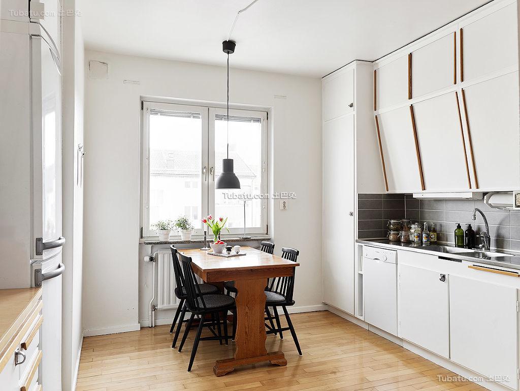 北欧风格餐厨房装修典例