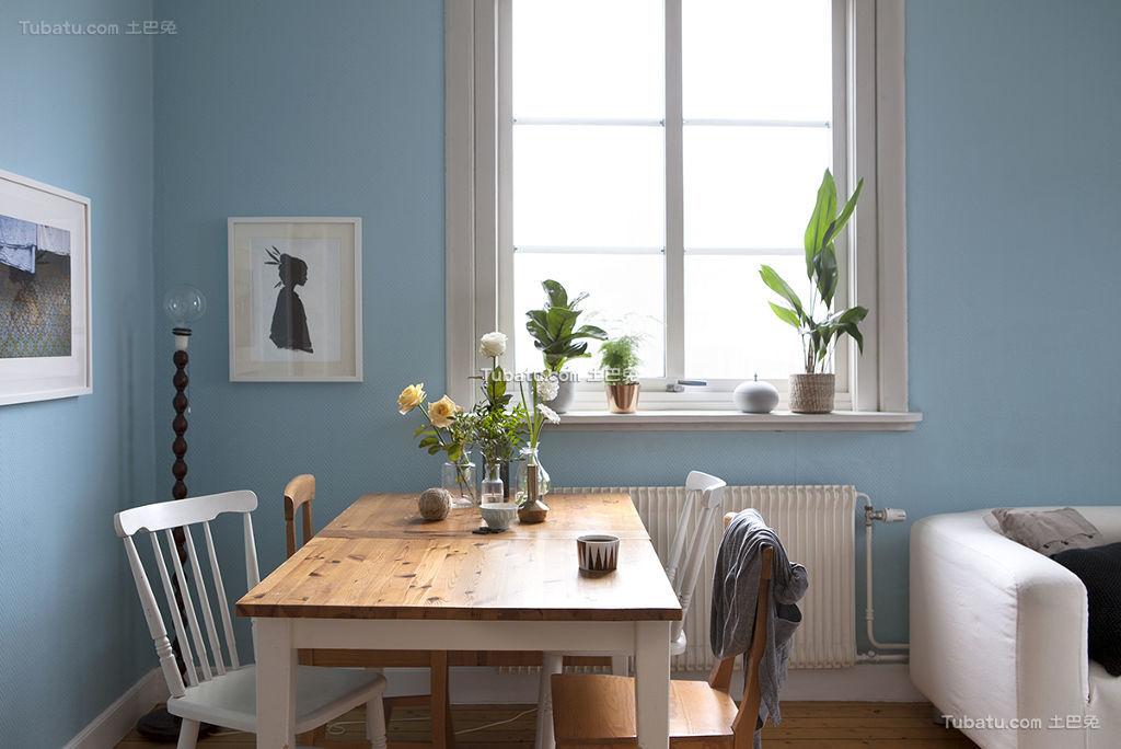 清新蓝色北欧餐厅装修