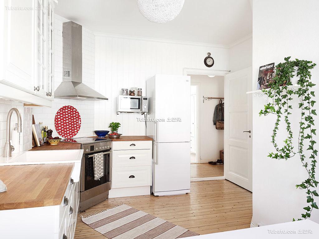 简洁自然北欧厨房装修效果图