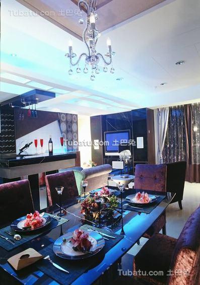 现代三居室内餐厅家装效果图