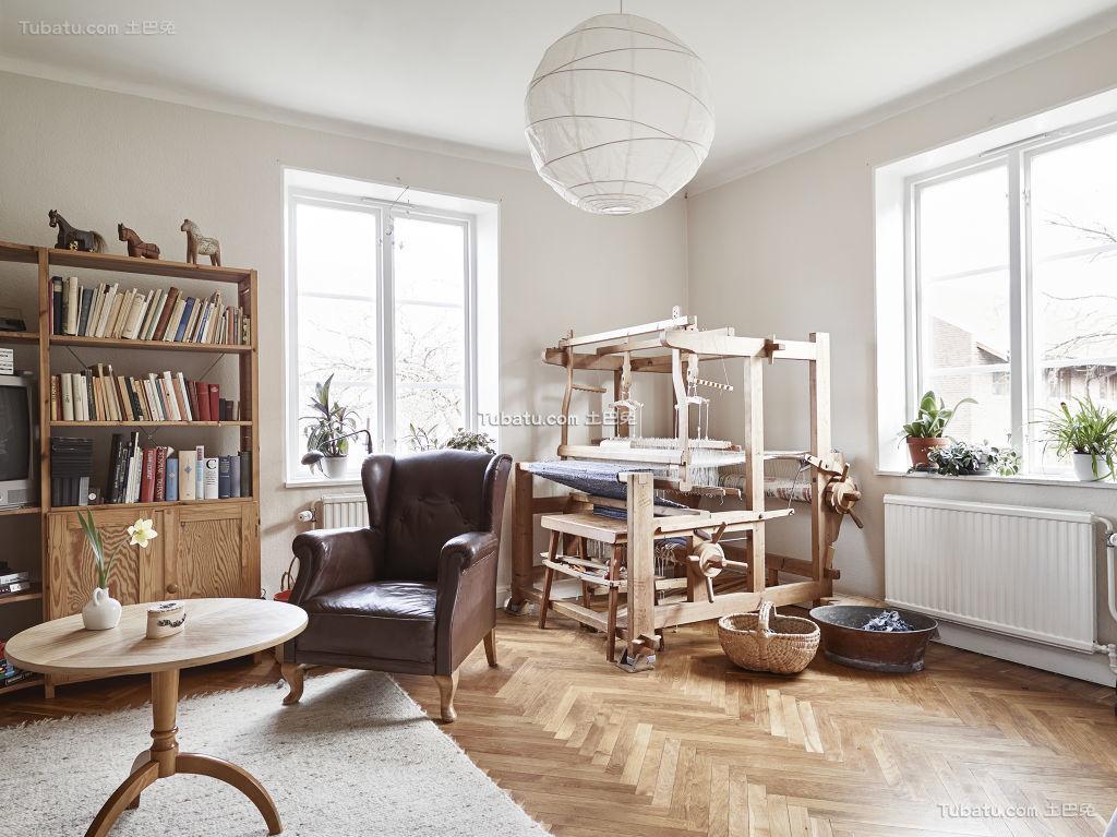自然原木北欧书房装修案例