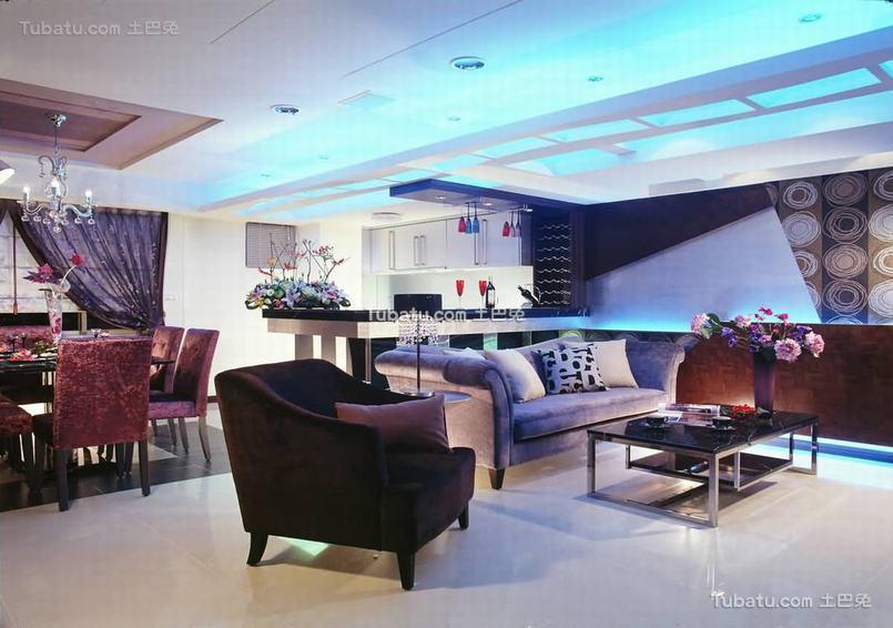 现代三居室内家装效果图