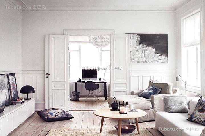 唯美纯白北欧小户型家居装修