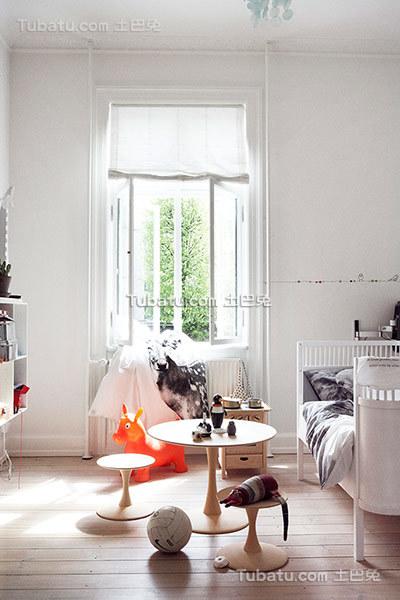可爱简洁北欧儿童房装修