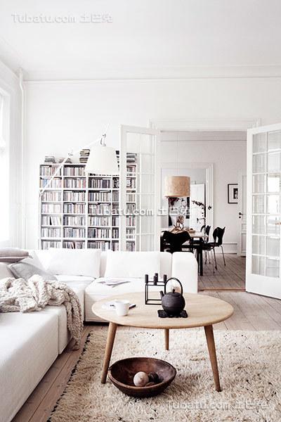 唯美纯白北欧客厅装修