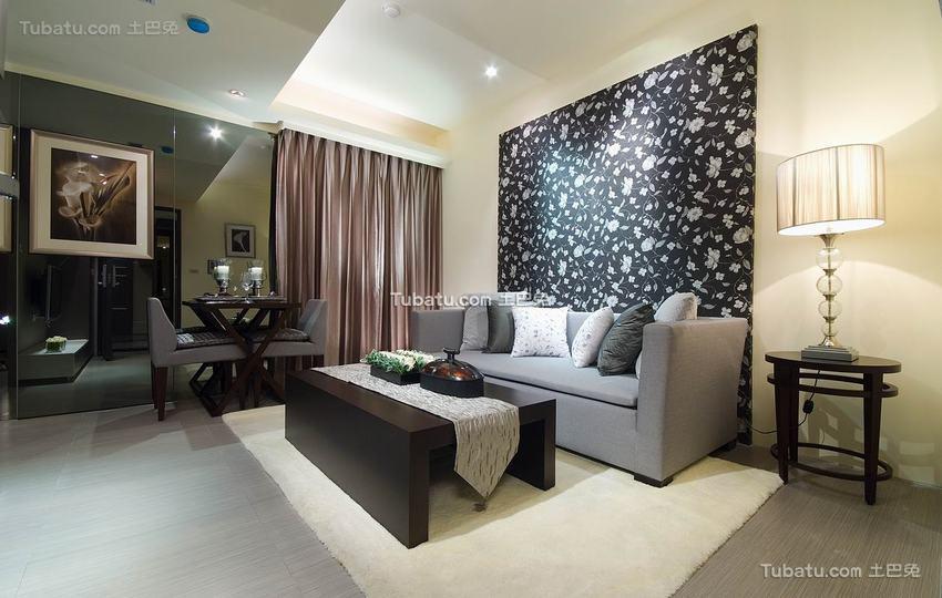 现代风格舒适二居室装修图片