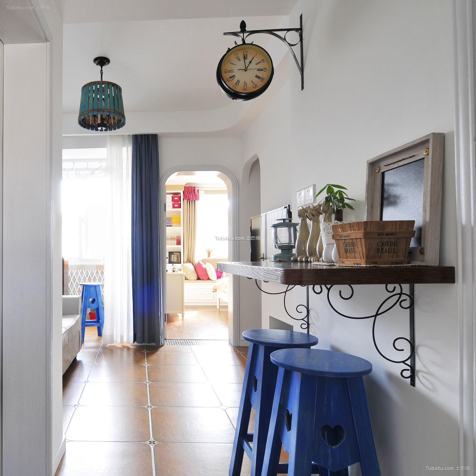 地中海家居走廊小吧台装修设计