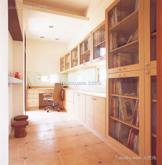 现代风格书房室内效果图