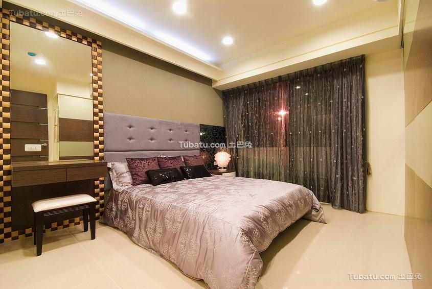 现代风格舒适卧室装修图片