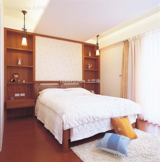 现代卧室实木家居效果图