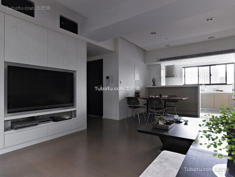 现代别墅电视背景墙家装效果图片