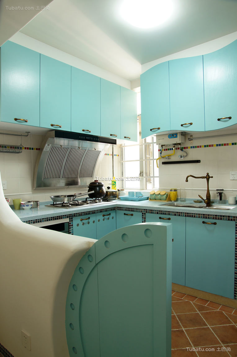 童趣地中海开放式厨房装修案例