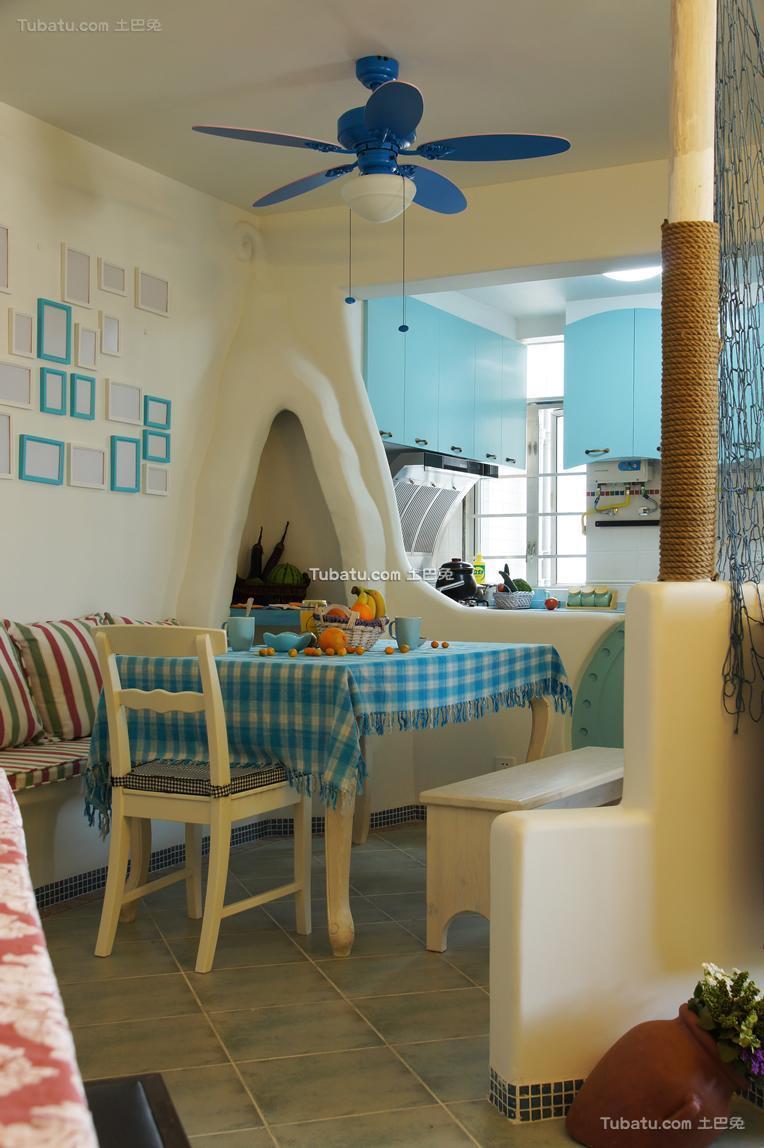 童话地中海餐厅装修案例