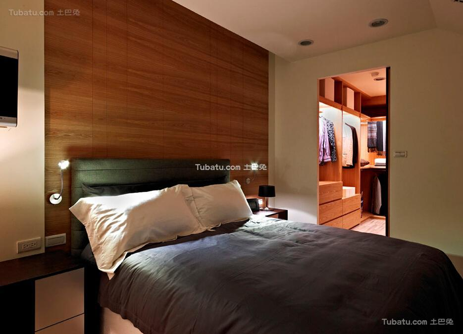 现代男士居所卧室装修案例