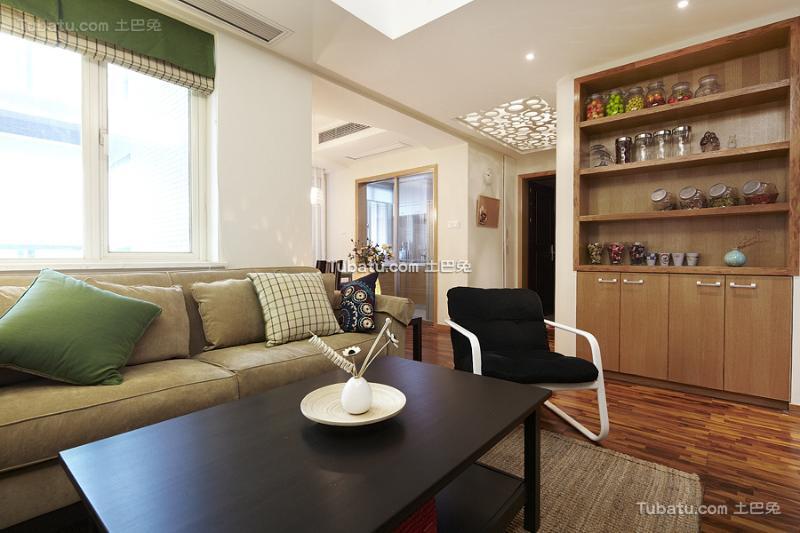 现代温馨局部客厅居家装修