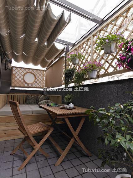 现代别墅阳台装饰效果图片