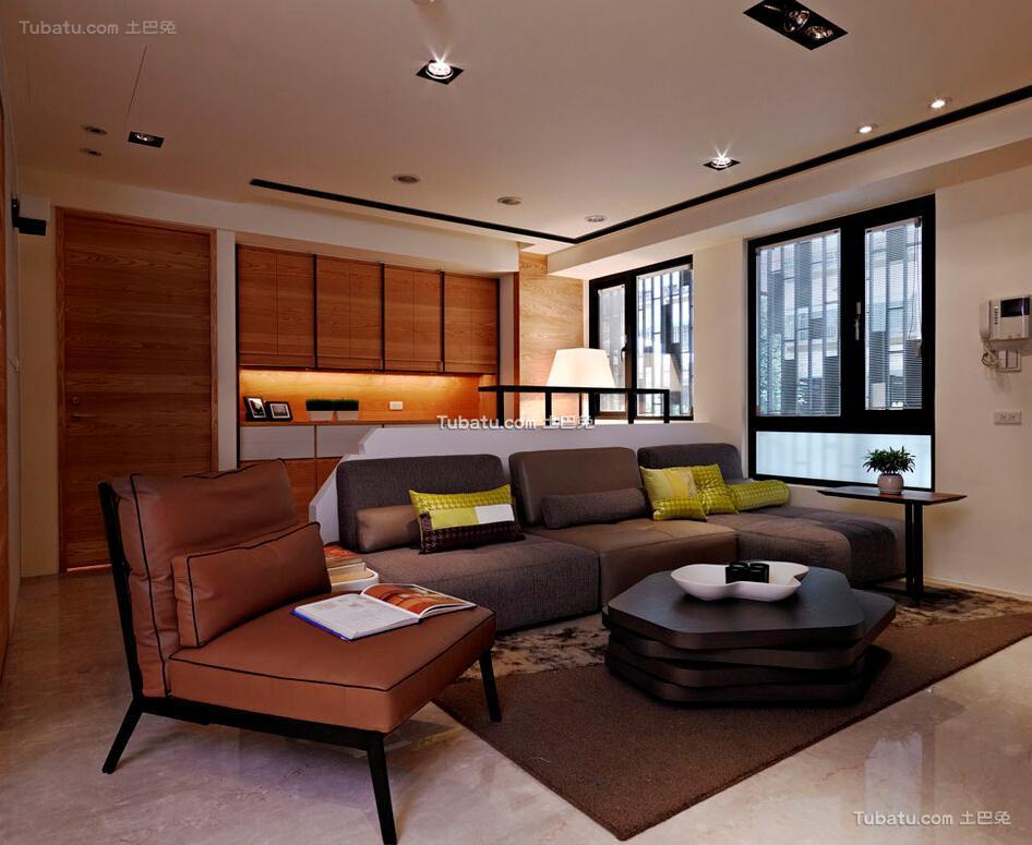 100平休闲现代两居室装修