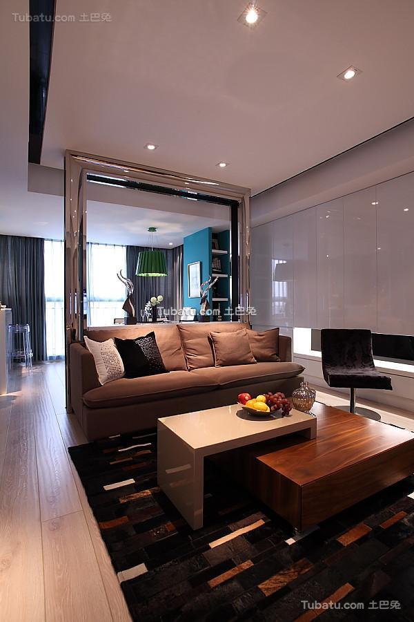 时尚精致现代两居室装修案例