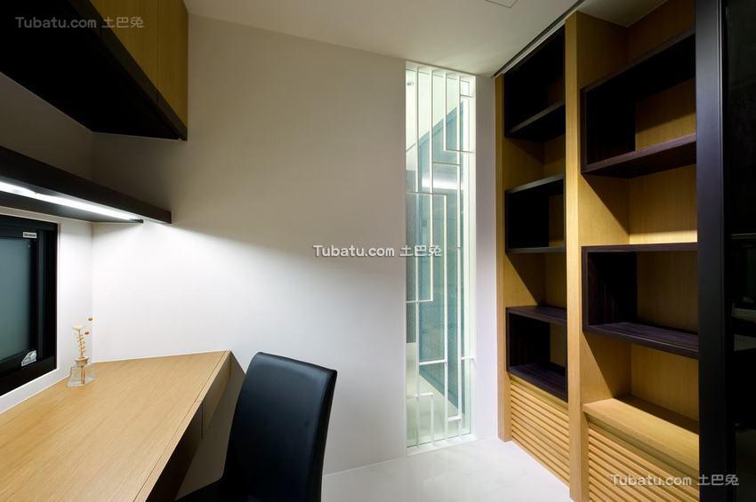 现代公寓书房家居布置图片