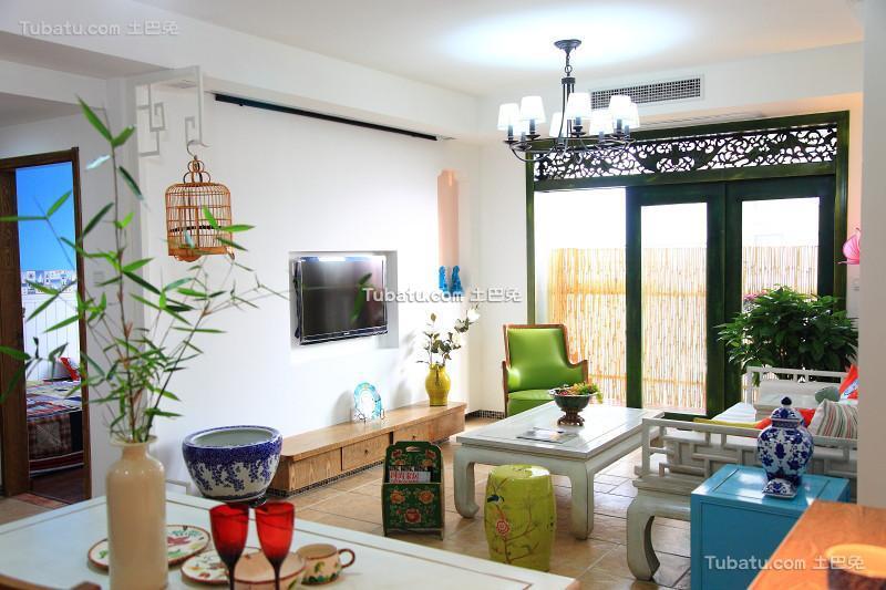 清新中式两居室装修案例