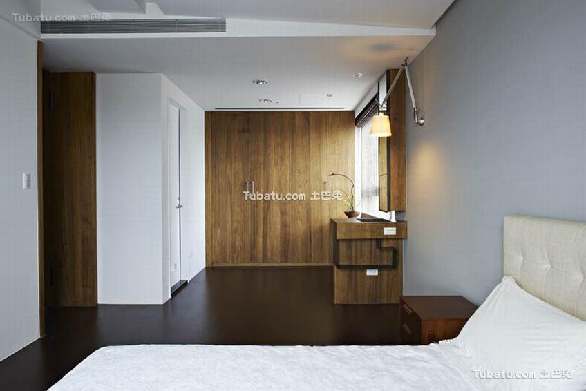 现代简约卧室实木室内家装图片