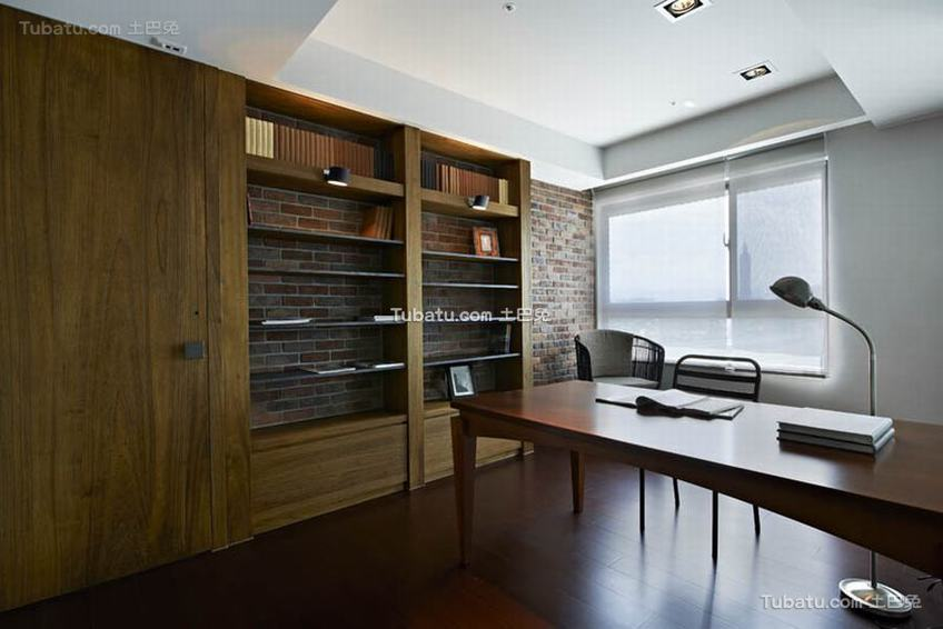 现代简约公寓书房家装图片