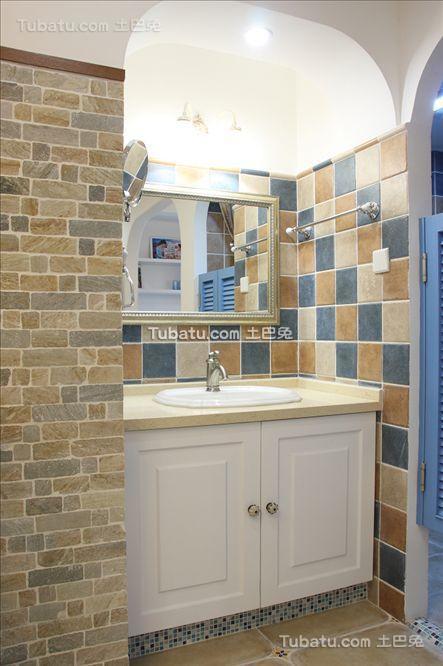 地中海马赛克瓷砖浴柜装修