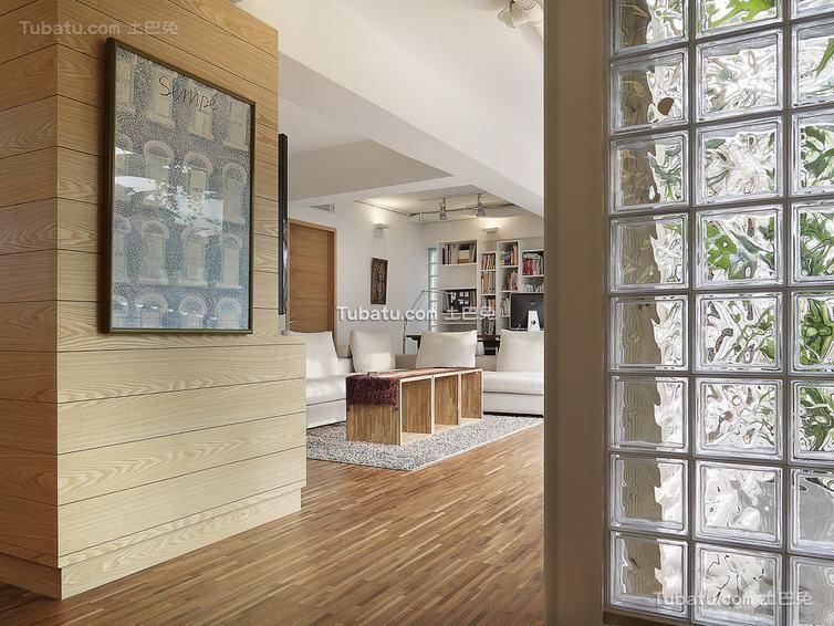 现代简约玻璃隔断墙家居装修图片