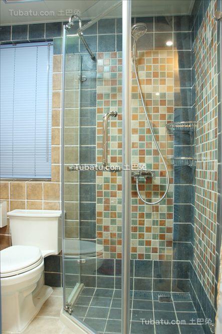 地中海马赛克瓷砖卫生间装修