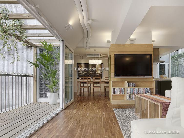现代简约别墅电视背景墙家居装修图片