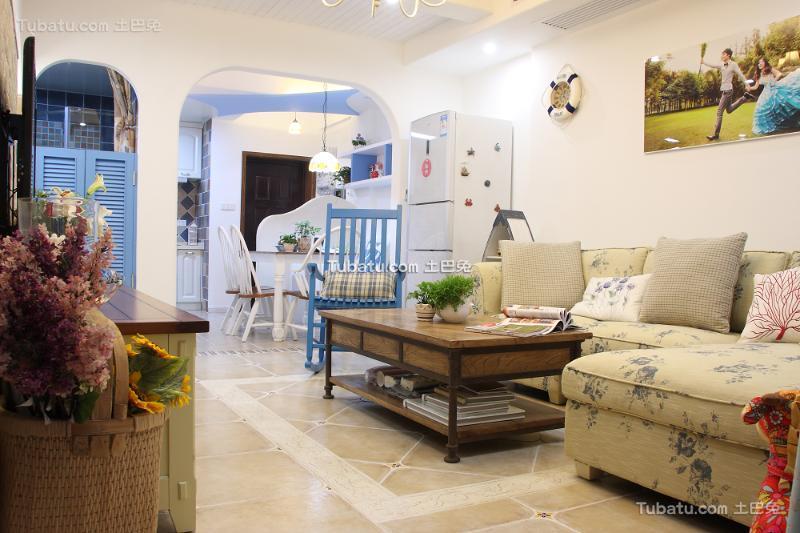 纯美地中海二房装修效果图