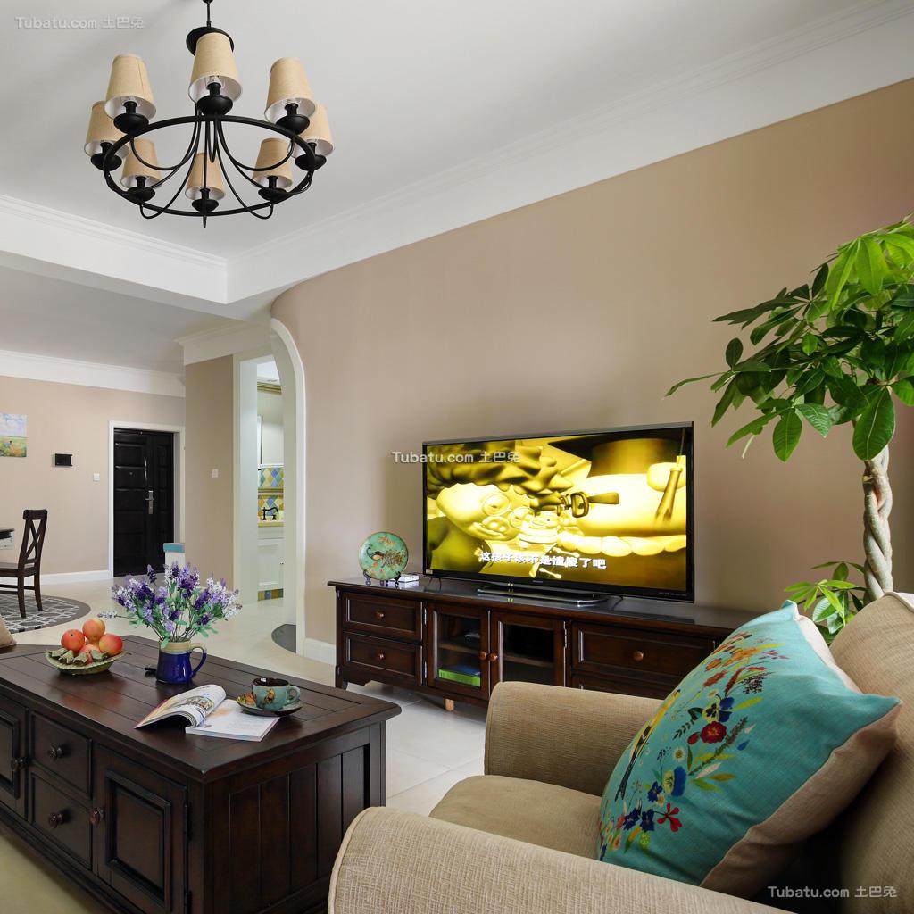 美式混搭家居客厅装修